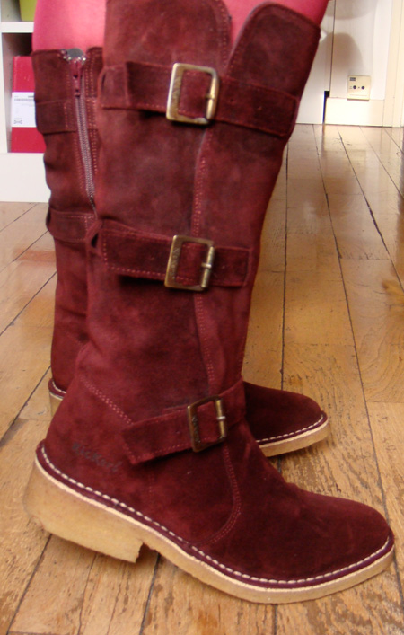 bottes kickers rouge